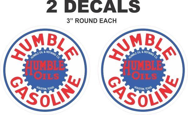 2 Humble Oils / Gasoline Decals