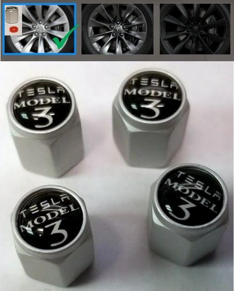 Tesla Model X S - Bright Silver Caps Tesla Model 3