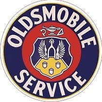 Vintage Style Oldsmobile Service Decal 3 Inches Round