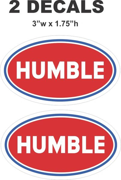 2 Red Humble Oil / Gasoline Decals