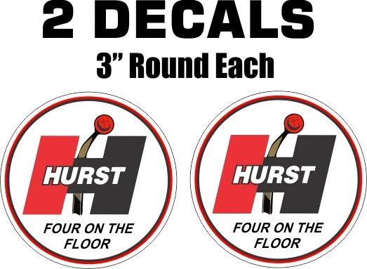 2 Round Hurst Decals