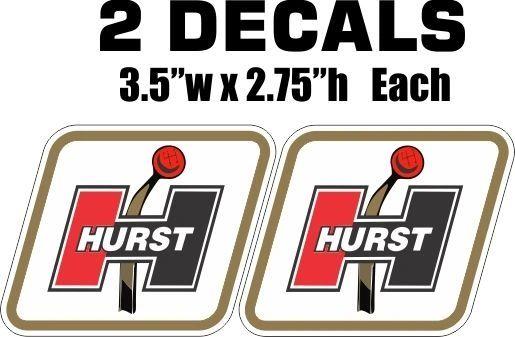 2 Hurst Shifter Decals - Nice