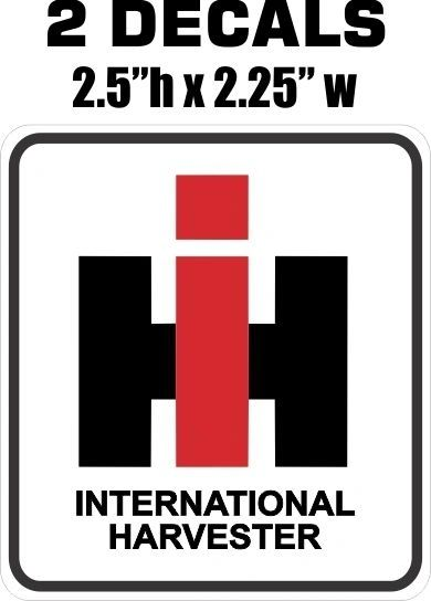 2 International Harvester Decals