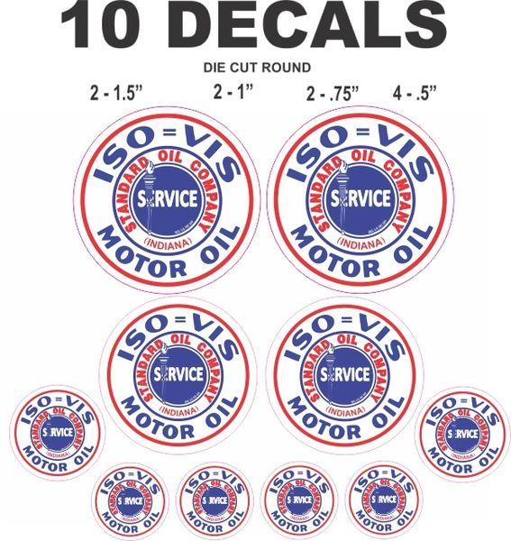 10 Standard Oil Company Motor Oil Gasoline Iso Vis Indiana