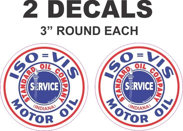 2 Standard Oil Company Motor Oil Decals