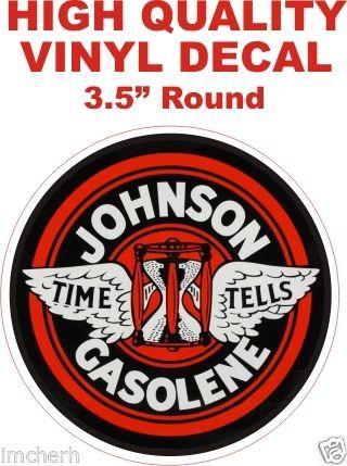 1 Johnson Gasolene Gasoline Time Tells Decals