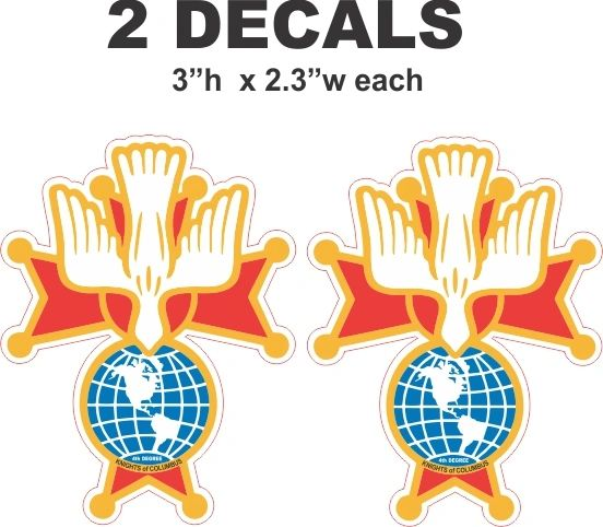 2 Knights of Columbus 4th Degree Knight Decals