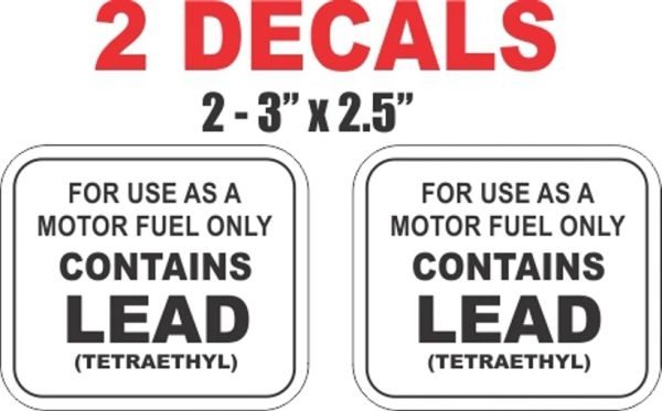 2 Contains Lead Decals