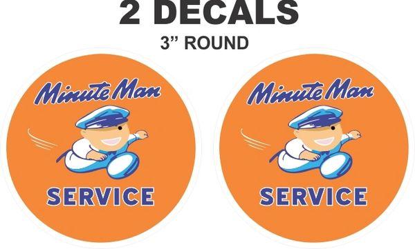 2 Minute Man Service Decals