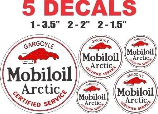 5 Round Mobiloil Mobil Oil Arctic