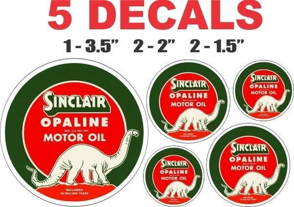 5 Sinclair Opaline Motor Oil Decals