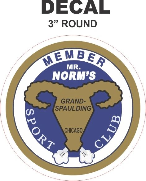1 Vintage Mr. Norms Member Sports Club Decals