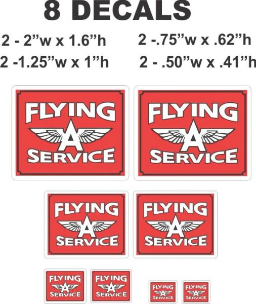 8 Flying A Service Decals