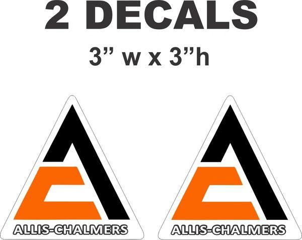 2 Allis Chalmers Triangle Die Cut Decals