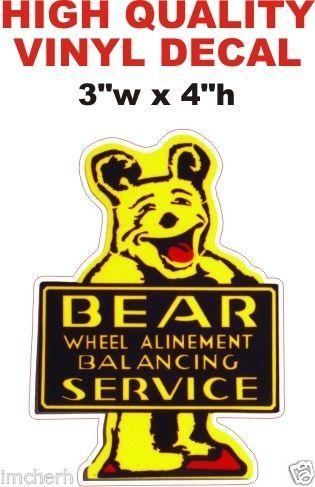 1 Bear Wheel Alignment Decal