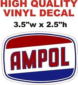 1 Ampol Gasoline Oil Decal