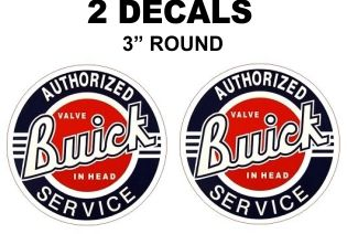 2 Buick Authorized Service Decals