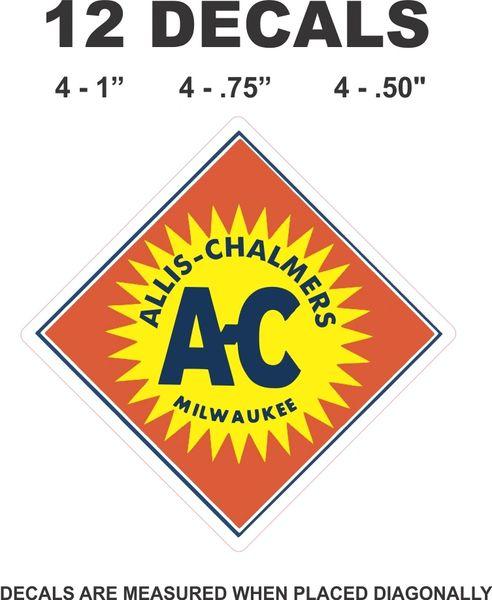 12 Allis Chalmers Decals