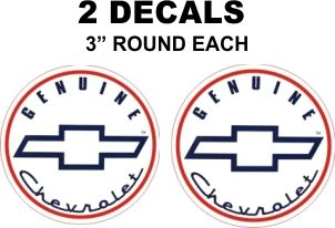 2 Genuine Chevrolet Decals- Very Nice Reproductions