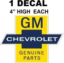 1 GM Genuine Parts Decals - Reproduction