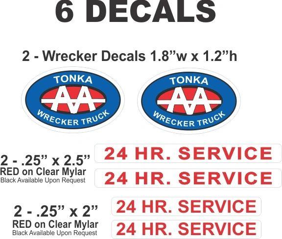 6 Wrecker Truck Decals For Your Tonka Truck Restoration