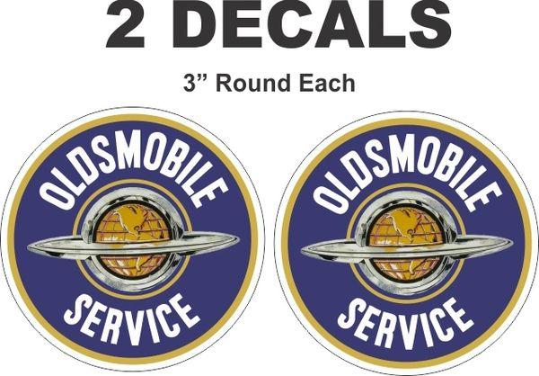 2 Oldsmobile Service Decals