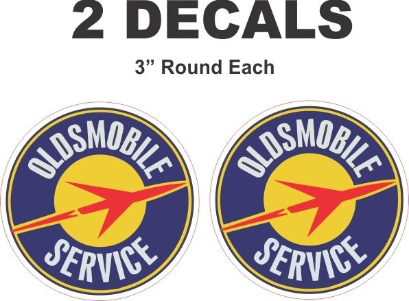 2 Vintage Style Oldsmobile Service Decals - Nice