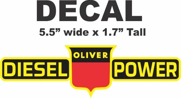 Oliver Diesel Power Tractor Decal