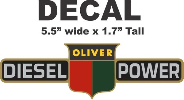 Oliver Diesel Power Decal - Sharp and Vivid colorrs