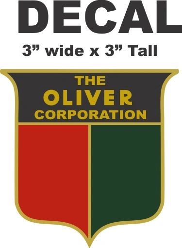 The Oliver Corporation Decal