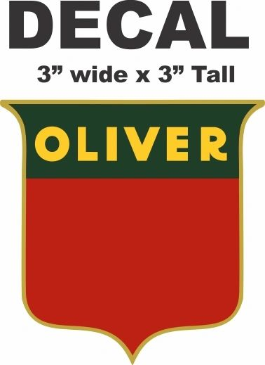 Oliver Tractor Decal - Nice
