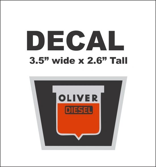 Oliver Diesel Radiator Decal