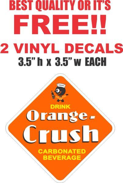 2 Orange Crush Decals - Very Nice