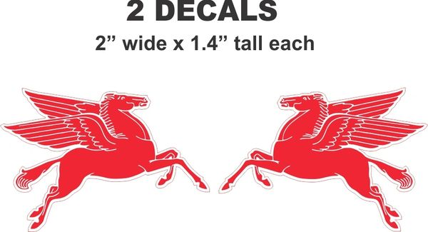 2 Small Left and Right Mobil Pegasus Left and Right Facing Decals