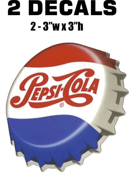 2 Pepsi Decals
