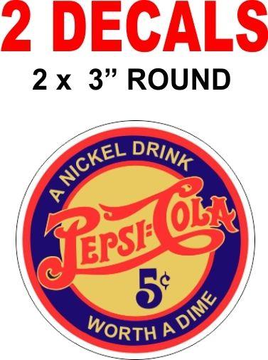 2 Vintage Style Pepsi Decals