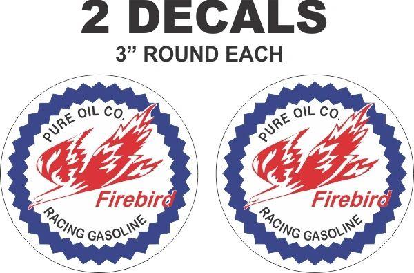 2 Pure Oil Company Firebird Racing Gasoline