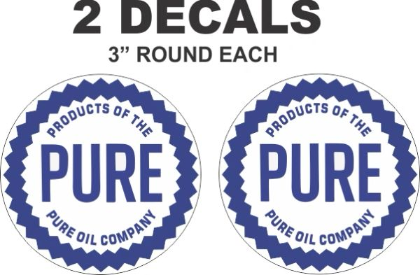 2 Pure Oil Company Decals