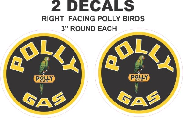 2 Polly Gasoline with Right Facing Birds