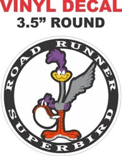 Round Mopar Road Runner Superbird Decal
