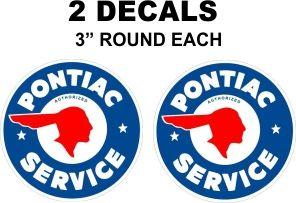 2 Pontiac Service Decals - Nice