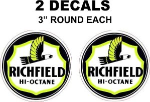 2 Richfield Hi-Octane Decals