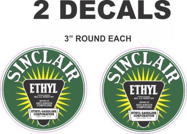 2 Sinclair Green Ethyl Decals
