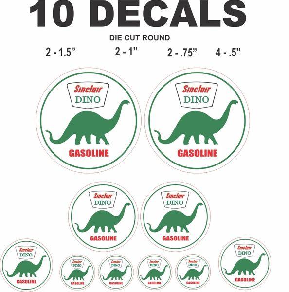10 Dino Sinclair Gasoline Dceals