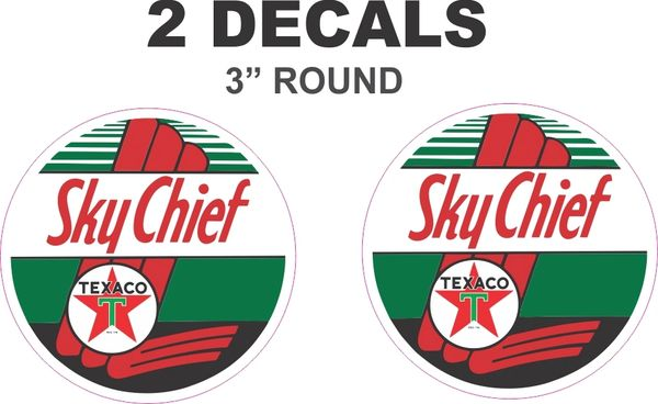 2 Texaco Sky Chief Decals