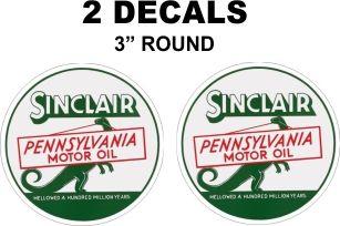 2 Vintage Style Sinclair Pennsylvania Motor Oil Dceals