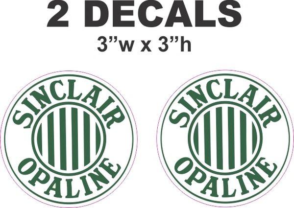 2 Sinclair Opaline Decals