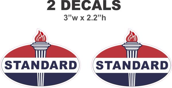 2 Standard Oil Gasoline Decals - Nice
