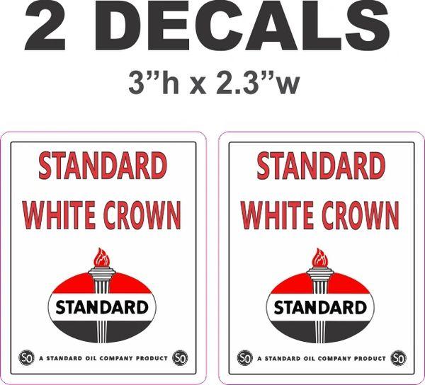 2 Standard White Crown Decals
