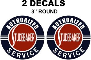2 Vintage Style Studebaker Authorized Service Decals